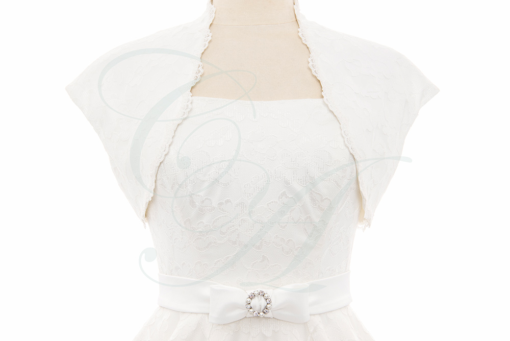 Lace Bolero & Bow Crystal Belt