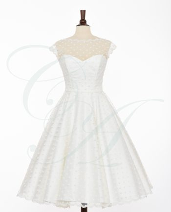 bridal 050 350x435 - A Soft Sprinkling of Polkadots