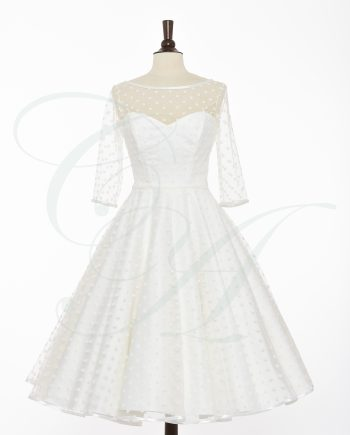 bridal 054 350x435 - A Fine Dusting of Polkadots