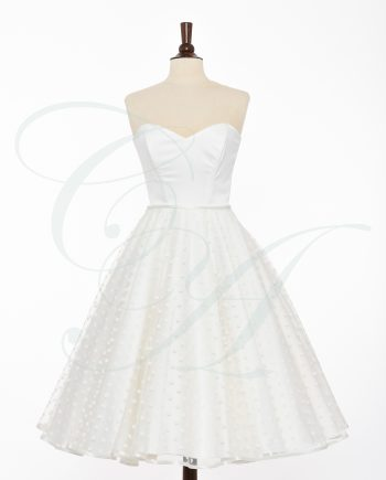 bridal 056 350x435 - A Light Whisper of Polkadots