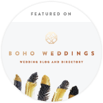 boho wedd badge 150x150 - Press Coverage