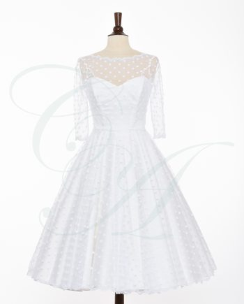 bridal 075 350x435 - A Fine Dusting of Polkadots (White)