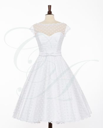 bridal 076 350x435 - A Soft Sprinkling of Polkadots (Bow-Belt)