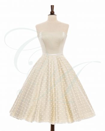 bridal 970 web copy 350x435 - A Light Whisper of Polkadots (Cream)