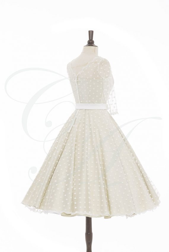 Polkadot Cream Dress