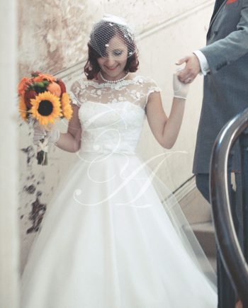 Candy Anthony Rose Lace Wedding Dress